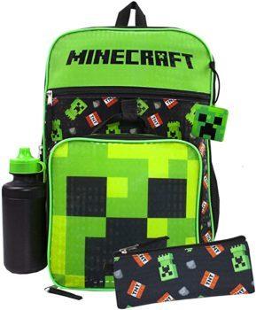 Minecraft Creeper & TNT 5 Piece Backpack