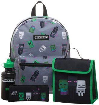 Minecraft Kids Minecraft Backpack 4 Piece Set