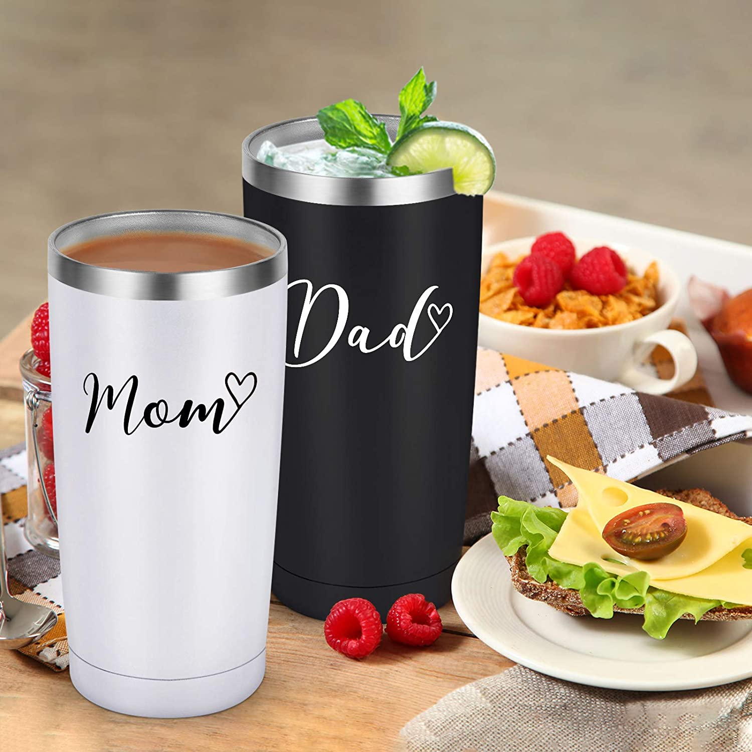 3. Mom and Dad Tumblers
