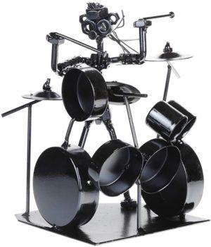 Musician & Drummer Band Statue