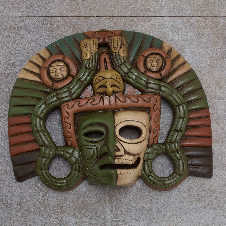 NOVICA Decorative Ceramic Wall Mask