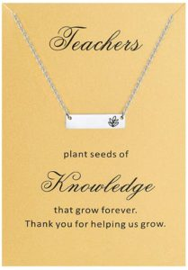 Necklace with Thank You card for Teachers