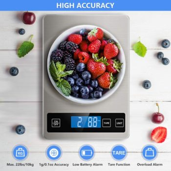 Nicewell 22lb Digital Stainless Steel Kitchen Scale