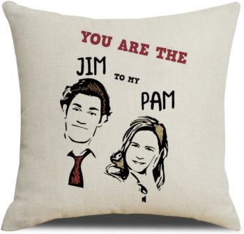 Office cute couple pillow