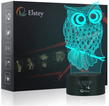 Owl 3D Illusion Table Lamp