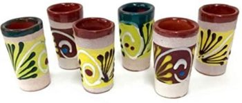 Painted Barro Tequila Shots Glasses