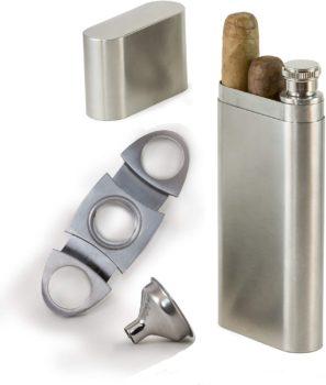 Perfect Pregame Cigar Flask Gift Set