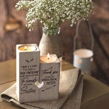 Personalized Custom Wooden Candle Holder