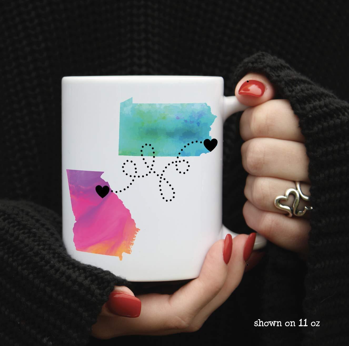 8. Personalized Long-Distance Friends Mug