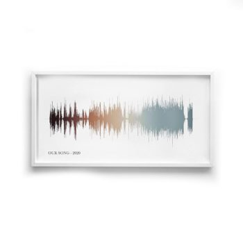 Personalized Sound wave Art Canvas and Paper Prints