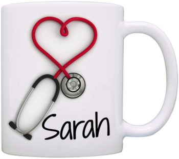 Personalized!! Stethoscope Printed Coffee Mug