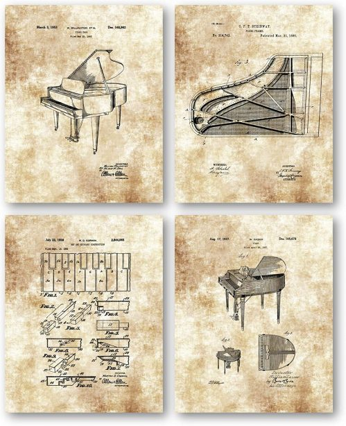 2. Piano oil painting decorations