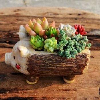Pig flower pot