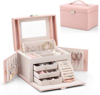 Pink Jewelry Box for Women