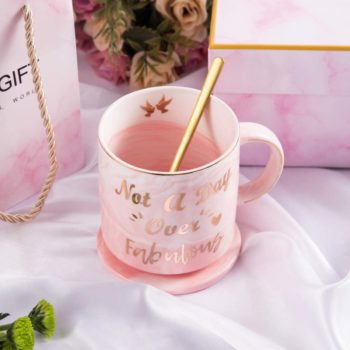 Pink Marble Ceramic Coffee Mug