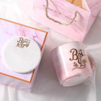Pink Marble Ceramic Mug