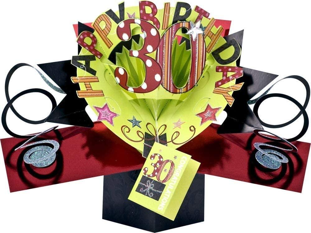5. Pop Ups 30th Birthday Greeting Card
