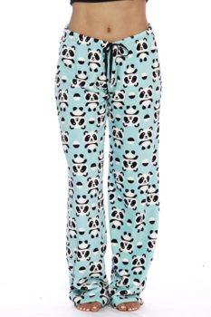 Print Plush Pajama Pants