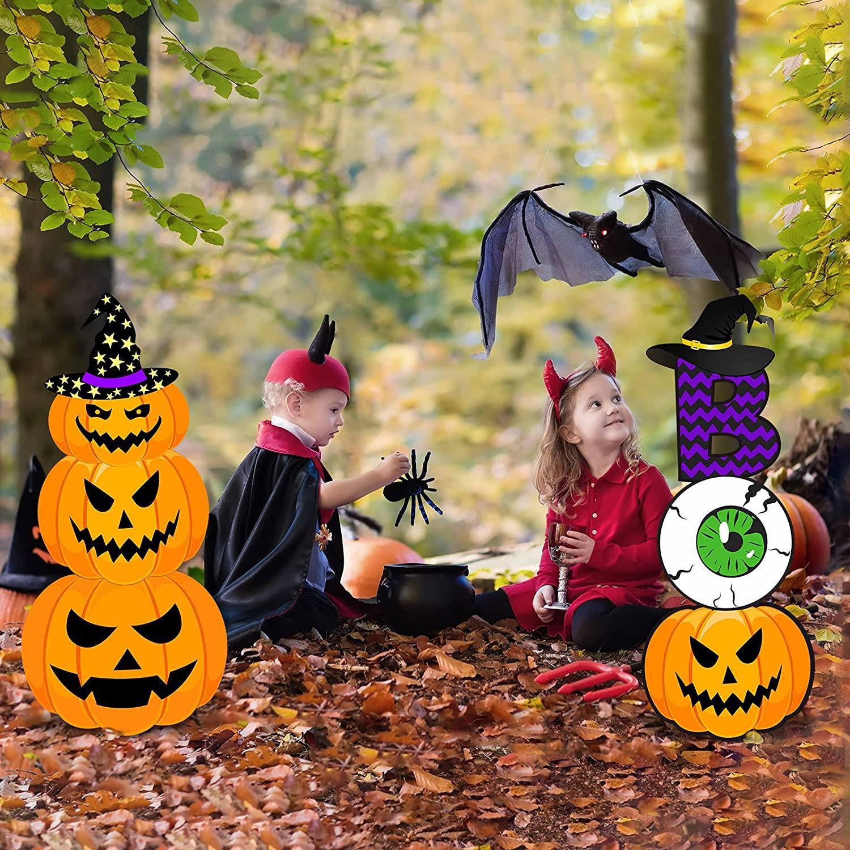 Pumpkin ghost monster yard sign