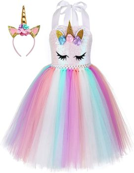 Rainbow Unicorn costume with headband
