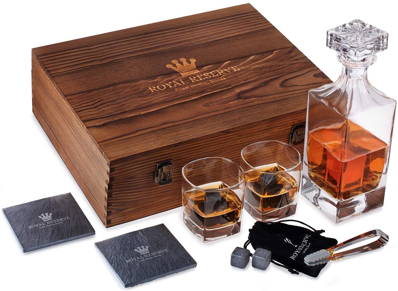 3. Royal Reserve whiskey stones gift set