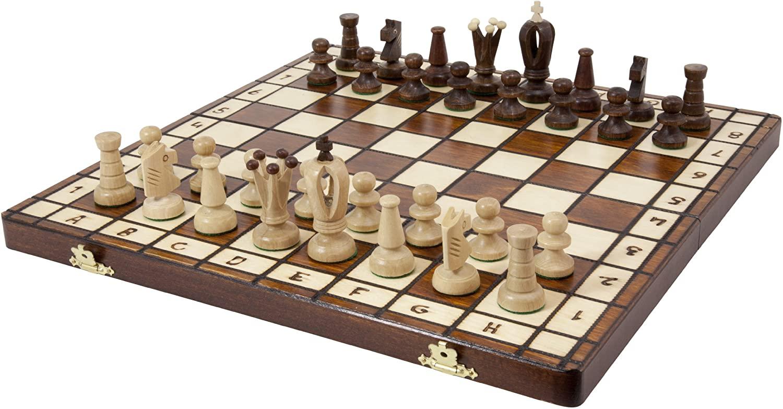 7. Royal Wooden Chess Set