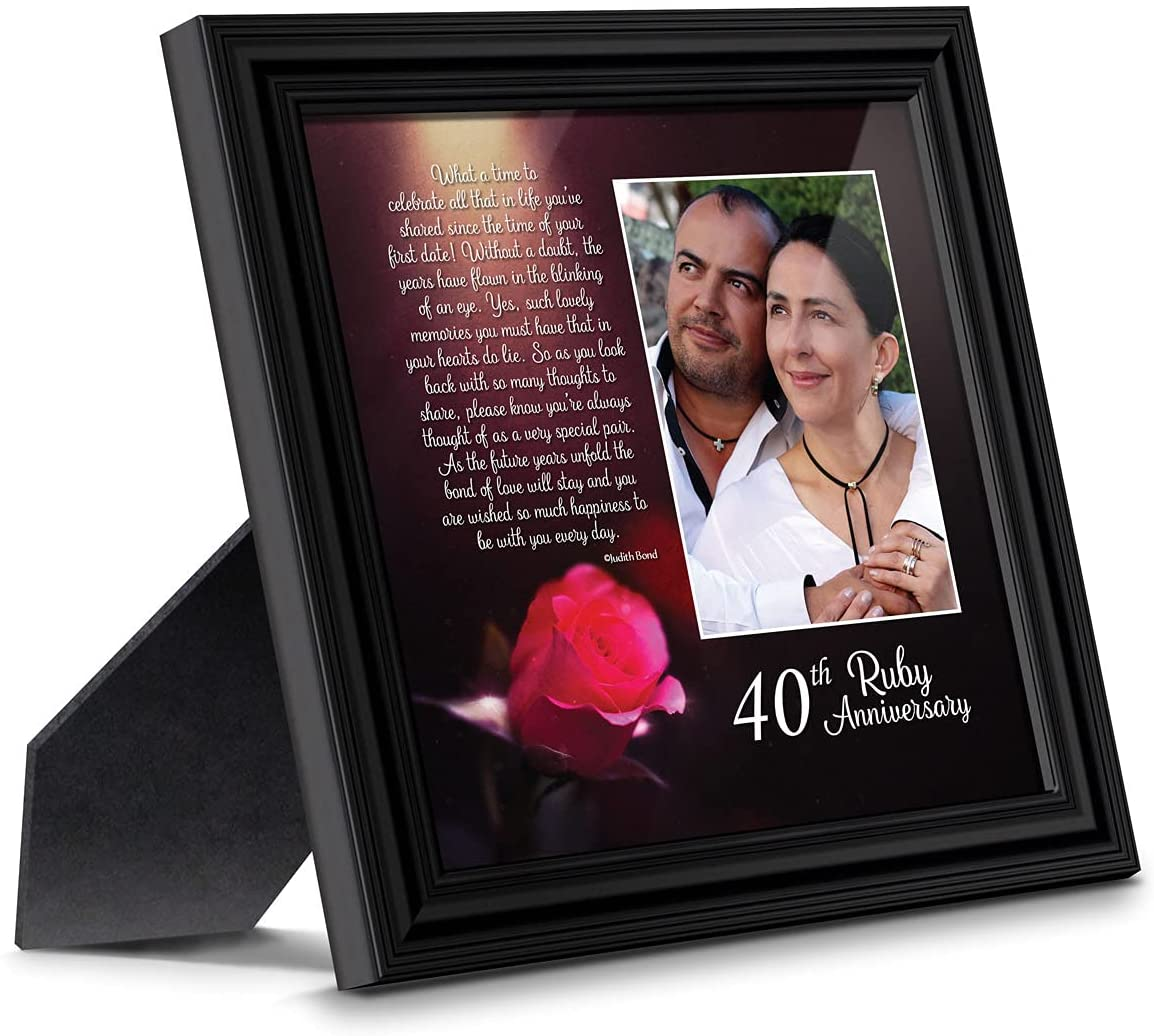 9. Ruby Anniversary Poem Picture Frame