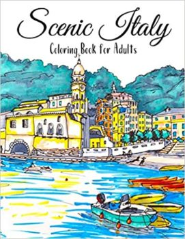 Scenic Italy Coloring Book For Adults