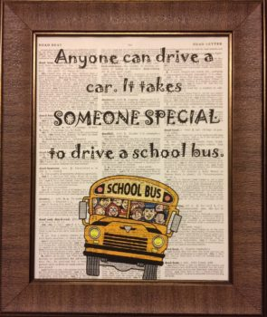 School Bus Driver Quote Dictionary Book Page