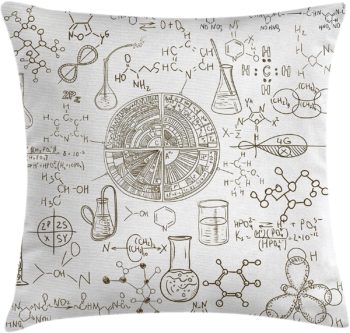 Science Throw Pillow Cushion Cover