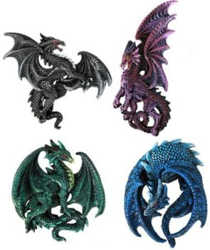 Sculptural Magnet Dragons