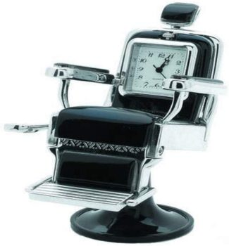 Silver barber chair seat