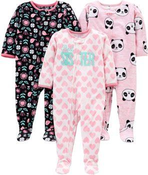 Simple Joys Fleece Footed Pajamas