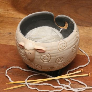 Sleepy Sheep Ceramic Yarn Bowl