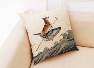 Sofa cover pillow