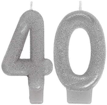 Sparkling 40 numeral candles