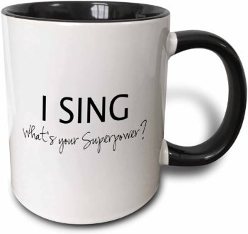 Superpower Two-Tone Mug for Singers