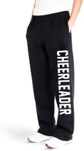 Sweat pants for cheerleaders