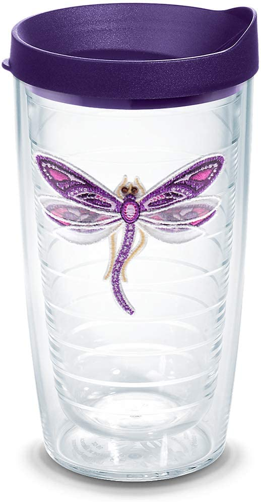 10. Tervis Shimmer Layered Purple Dragonfly Tumbler