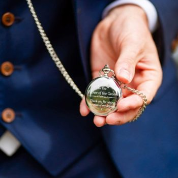 """Thank You for Raising the Man of My Dreams"" Pocket Watch"