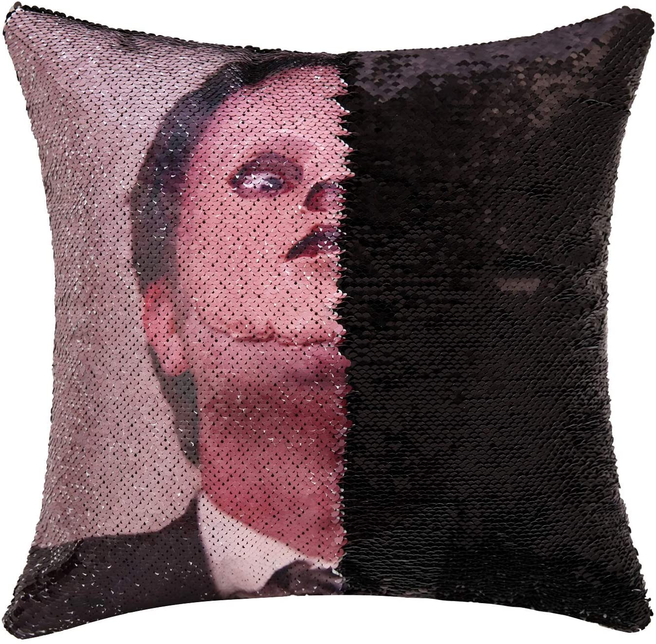 3. The Office Dwight Reversible Sequins Throw Pillow Cover