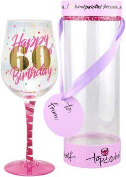 Top Shelf 60th Birthday Wine Glass