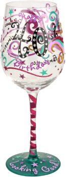 Top-shelf wine glass