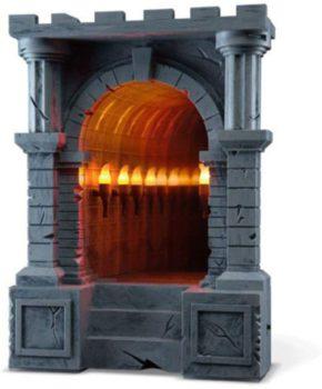 Torch-Lined Dungeon Corridor Infinity Mirror