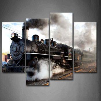 Train with Grey Smoke – Wall Art