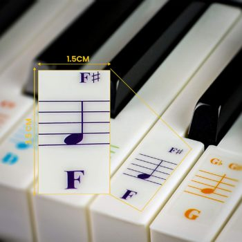 Transparent Stickers for Piano Keyboard