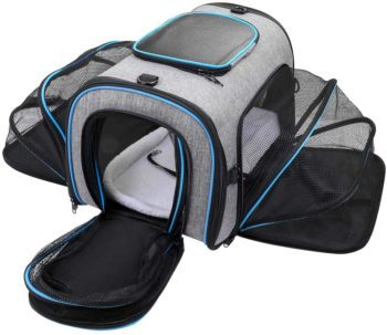 Travel Carrier 4 Sides Expandable Cat Backpack
