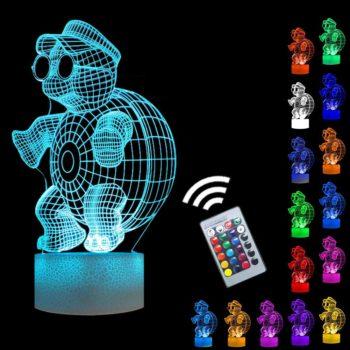 Turtle night light 3D visual effect