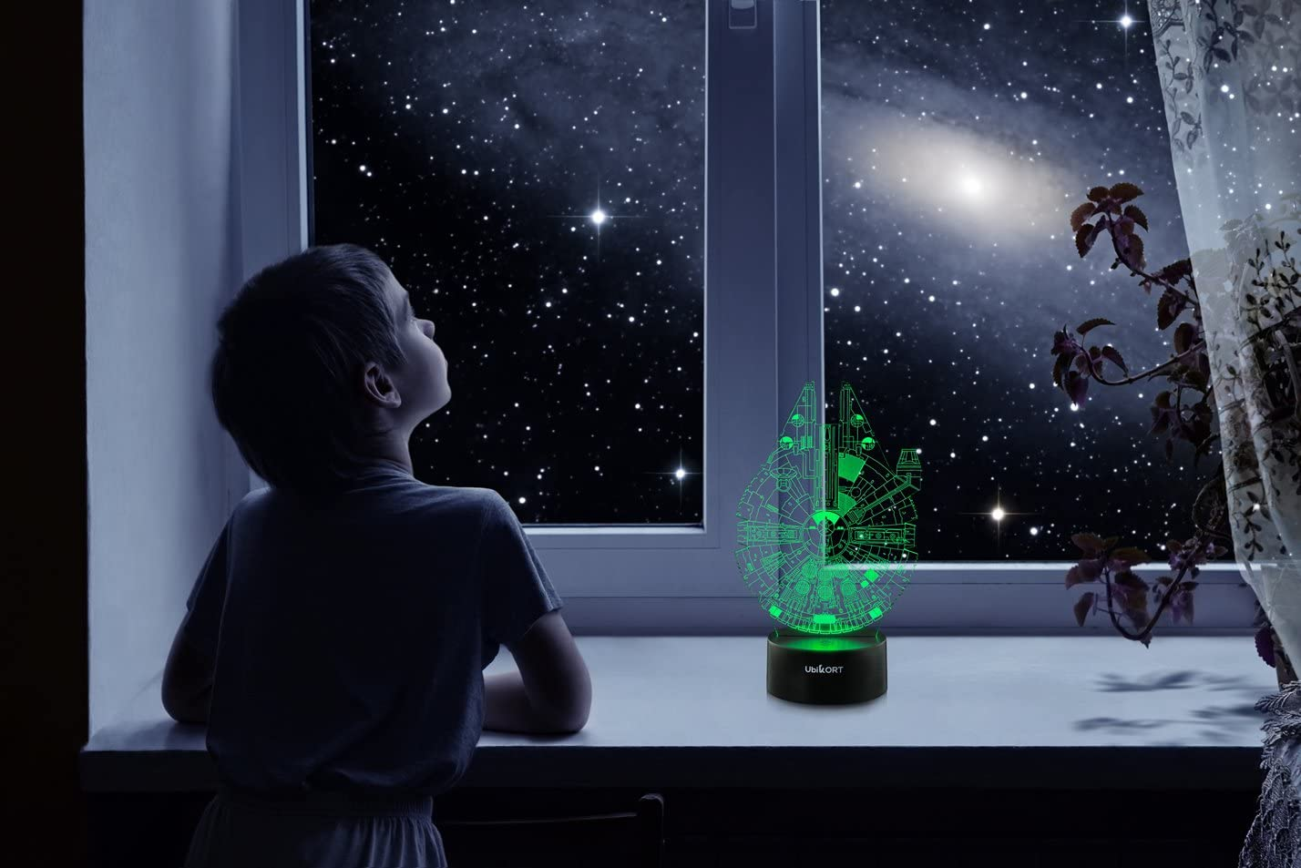 2. UbiKORT 3D Millennium Falcon Night Light