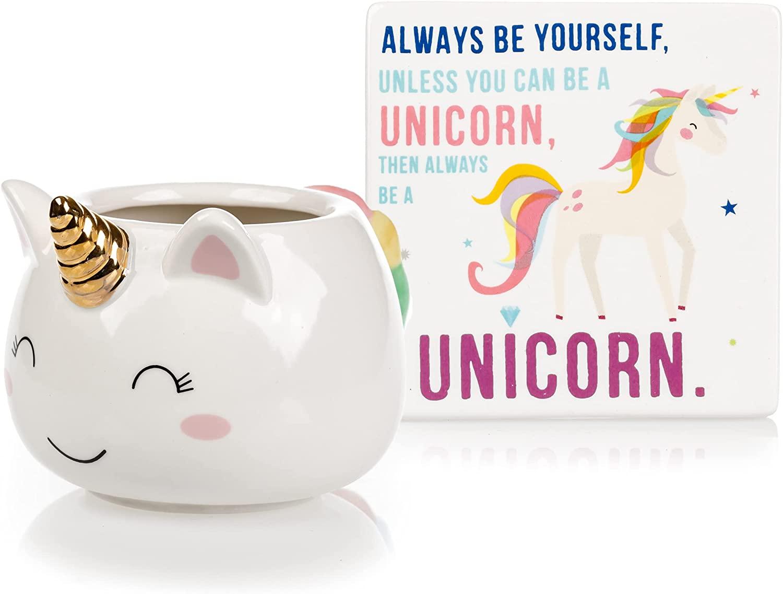 5. Unicorn Mug & Coaster Set